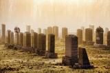 Foggy Sunrise Headstones 22302