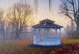 Gazebo At Dawn 22556 Art