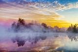 Misty Rideau Canal At Sunrise 26002