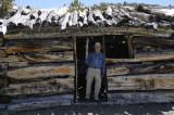 Bill at a Miners Cabin