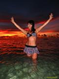 Guam Sunset Girls...and having fun...