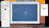 Some basic astrophoto image processing using GIMP