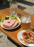Leberkäs und Bier
