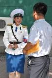 Flirting with Pyongyang traffic lady