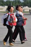 schoolchildren in KIS square