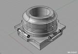 CAD model of EQ adapter