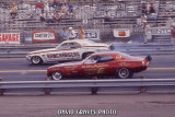 Qualifying '71 NHRA Springnationals, Dallas, (Leroy Goldstein) Ramchargers and (unknown driver) John Mazmanian