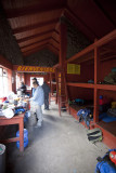 Inside the Piedra Grande hut.