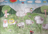 please count the sheeps, Chen Yi, age:9