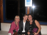 Rene, Sonia and Ilaf taking the ferry to the Leanders Tower Restaurant