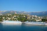 YALTA UKRAINE:  Sailing into Yalta Sept 19, 2010