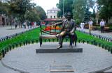 Monument to Leonid Utyolov famour jazz singer