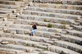 Alone at last in the amphitheatre