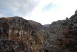 Hikers climbing Mt Vesuvious