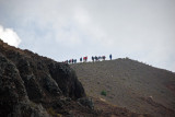 A closer view of the hikers