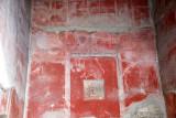 Ancient painted wall fresco at Herculaneum