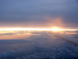 Sunset from the plane 8 April, 2004