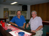 Dave and George at the Mt Hagen Bowls Club 14 June 2004