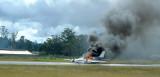 Plane crash on the runway August, 2004