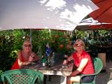 Rene and Sandi enjoying a glass of wine 25 April, 2007