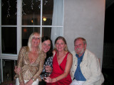 At Heather's party - the 2 Heathers, me and John