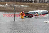 Leominster,MA Van in Water March 7,2011