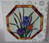 Card created to look like stained glass