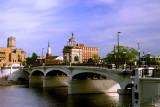 Buildings, bridges, landmarks