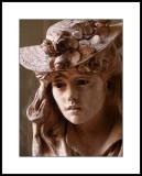Rodin : Jeune fille au chapeau fleuri, 1865