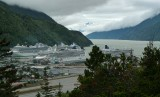 6000 touristes débarquent à Skagway chaque jour / 6000 tourists coming to Skagway every day