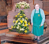 Cathedral flowers and the arranger
