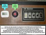 REFRIGERATOR AND 12 VOLT BATTERIES DIGITAL VOLTMETER MONITORS