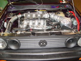 THE WILD HARE RACING CARS ENGINE IS A SLIGHTLY MODIFIED VW SCIROCCO 16V 1.8 LITRE