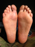 post-race feet - NO BLISTERS!