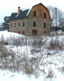 fancy stone barn....