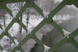 snow collecting on the Bailey's Bridge