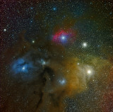 Rho Ophiuchi Panel 2 HaLRGB 130 60 60 60 70 reprocess