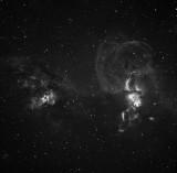 NGC3576 Ha 2 hours