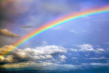 Rainbow and clouds...