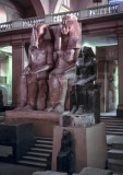 Statues of a Pharaoh and Queen