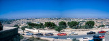 Panorama of the walled city of Jerusalem from the Mount of Olives
