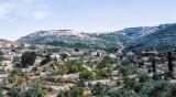 On way to Nazareth – looking back at Jerusalem