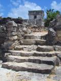 Un escalier à Tulum