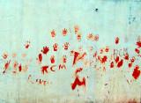 le mur aux mains rouges