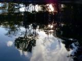 reflet de fin de journée