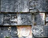 détails sur mur,  Chichen Itza