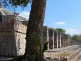 début de la colonnade