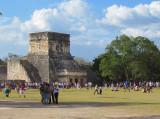 le temple du jaguar adossé au jeu de balle