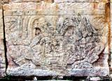 pied de colonne,  temple des jaguars