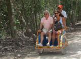 taxi tricycle, 70 pesos la course